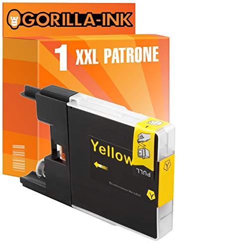 Gorilla-Ink 1er Tinten-Patrone XXL als Ersatz für Brother LC 1240 Yellow   Für Brother DCP-J 525W 725DW 925DW MFC-J 430 Series 430W 5910DW 625DW 6510DW 6710DW 6910DW