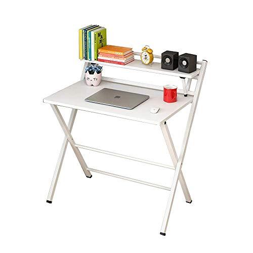 MTX Ltd Tischlaptop Wandtabelle Klapptisch Klapptisch Computertisch Schreibtisch Einfacher Schreibtisch Heimbüro Kleiner Tisch Multifunktionsschreibtisch für Jeden Anlass, Weiß