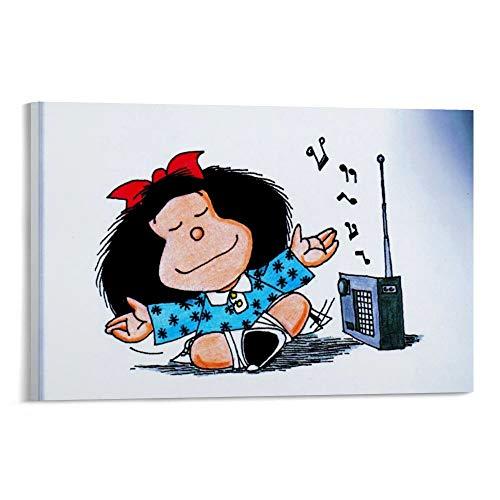 DRAGON VINES Póster de Mafalda Muriel Mamá sobre lienzo para pasillo escaleras de restaurante y hotel, pared de sala de estar, 60 x 90 cm