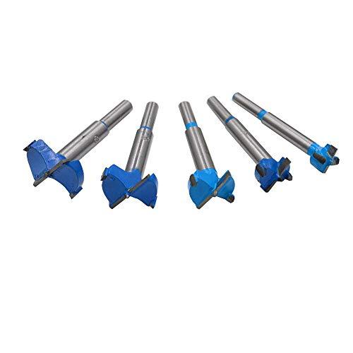 KingBra Juego de 5 brocas profesionales para carpintería, cortador de madera, aleación de acero, perforación de madera, herramienta de corte rotatorio de 15/20/25/30/35 mm