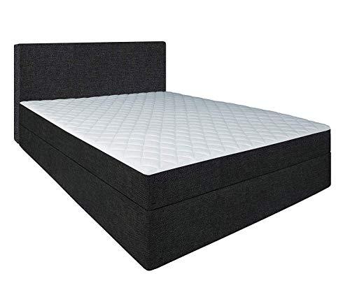 Generic Hercules-Bett Liegefläche 60cm hoch Die stabilere Alternative zum Boxspringbett metallfrei Hotelbett Long Life +150KG H5 Sondermaß (110x200)