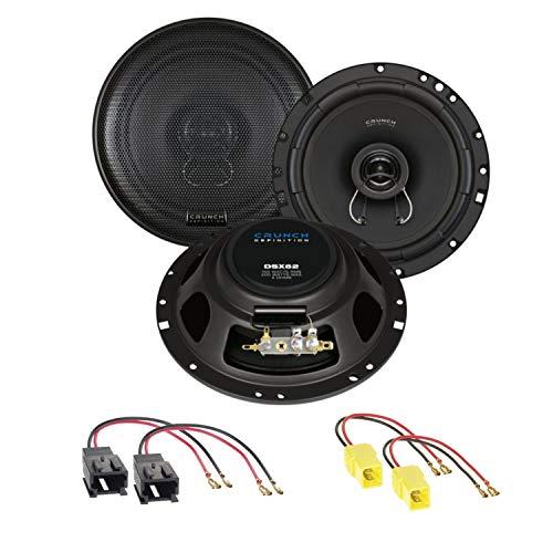 Crunch DSX62 2-Wege Koaxial Lautsprecher System Einbauset für Peugeot 206 307 406 Coupé 407 Coupé vordere Türen