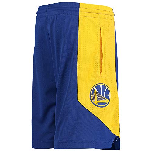 Outerstuff NBA Youth 8-20 Primary Logo Performance Practice Shorts (Youth - Medium, Golden State Warriors Blue)