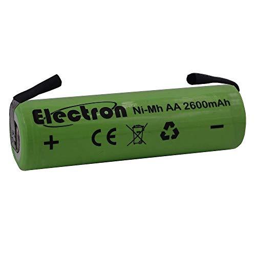 Batteria ricaricabile Ni-Mh Stilo AA 1,2V 2600mAh con linguette lamelle terminali a saldare per pacco pacchi batteria