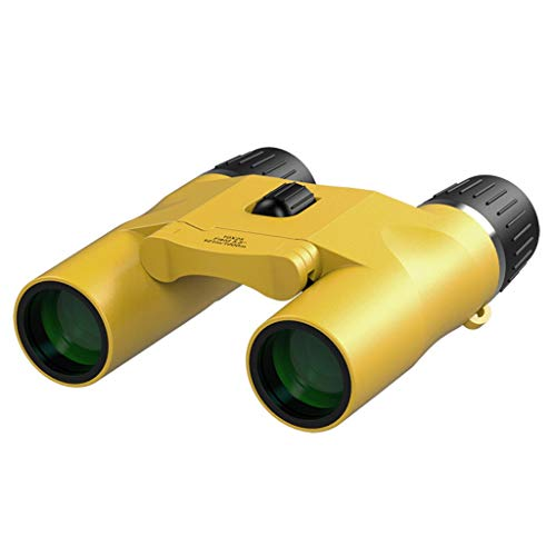 Fernrohre Teleskop-Fernglas 10 Mal HD Low Light Level Nachtsicht Tragbar Langlebig Faltbar Handheld Erwachsenenkonzert Outdoor-Reisen (Color : Yellow, Size : 11.2 * 10.5cm)