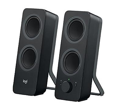Logitech Z207 Wireless Bluetooth PC Speakers, Stereo Sound, 10 Watts Peak Power, 3.5mm Audio Input, Headphone Jack, Multi Device, Easy Switch, Computer/TV/Smartphone/Tablet, EU Plug only - Black from Logitech