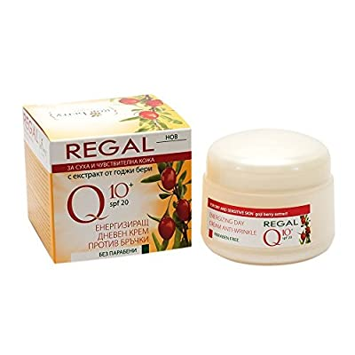 Energizing Anti Wrinkle Day Cream Rich in Coenzyme Q10 & Goji Berry Extract * For Dry & Sensitive Skin/ Ages 30+ by Rosa Impex