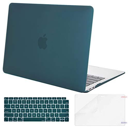 MOSISO Funda Dura Compatible con 2020 2019 2018 MacBook Air 13 A2179 A1932 Retina, Carcasa Rígida de Plástico & Cubierta de Teclado (USA Versión) & Protector de Pantalla, Trullo Profundo