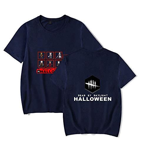Camiseta Hombre/Mujer Algodón Casual Camiseta con Estampado Dead by Daylight Camiseta De Verano con Cuello Redondo