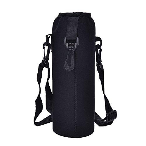 Portabotellas de agua de neopreno, aislante para botellas de agua de 1000 ml, correa de hombro ajustable, para niños, mujeres, hombres, ciclistas, viajeros, escaladores, deportistas, de Lycos3.