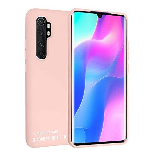 smartect Cover in Silicone per Xiaomi Mi Note 10 Lite - Aderenza Perfetta - Superficie Morbida Antiscivolo - Linee Interne Morbide - Case Silicone Rosa