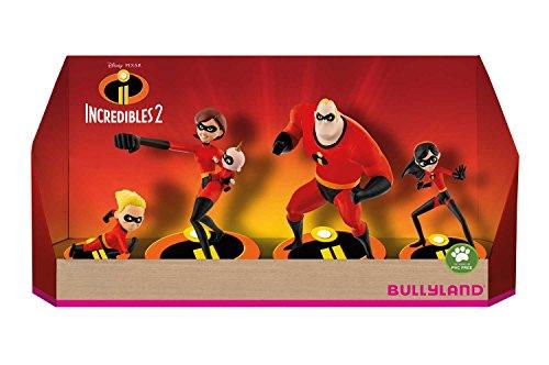 Bullyland 13289 - Spielfigurenset, Walt Disney Die Unglaublichen 2 - Set mit 5 Figuren, liebevoll handbemalte Figuren, PVC-frei, tolles Geschenk für Jungen und Mädchen zum fantasievollen Spielen