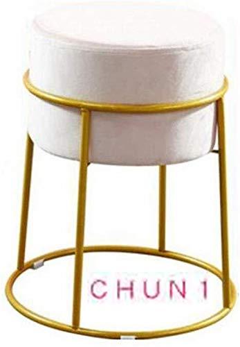 CHU N1 Makeup Hocker, Schmiedeeisen Round entfernbares Gewebe-Abdeckung Schuhmöbel 30-38cm x 47 cm (Durchmesser x Höhe) 131 (Size : Light Pink)