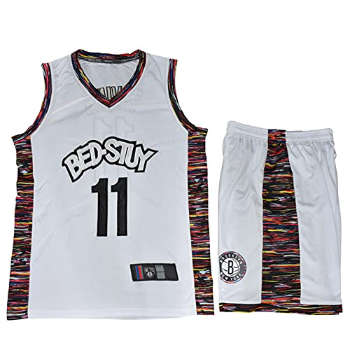 Wsaman Camiseta De Baloncesto De La NBA Masculina, No.11 Camiseta de Baloncesto para niños Hombres,Jersey De Baloncesto para Hombre, Camiseta De Baloncesto para Adultos Y Niños,Blanco,L