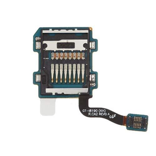 ASAMOAH Pieza de la Tarjeta SIM del reemplazo del teléfono Celular Memory SD Card Slot Flex Cable para Galaxy Siii Mini / i8190