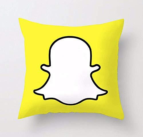 Jennifer Davidson Snapchat - Funda de cojín (microfibra, 3D, diseño de redes sociales, 45,7 x 45,7 cm)