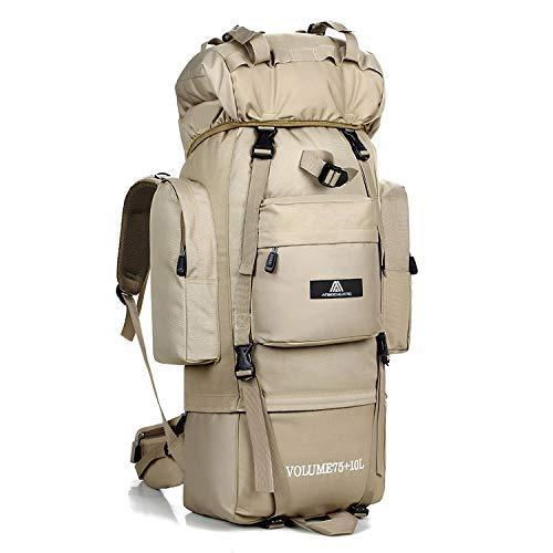 WEZOXV Internal Frame Hiking Backpack 85L Daypack Rucksack Camping