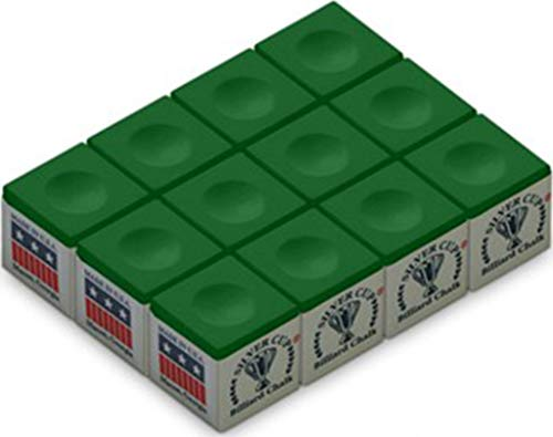 Silver Cup SC-12-TOURNAMENTGREEN Chalk Tournament Dozen Box, Green