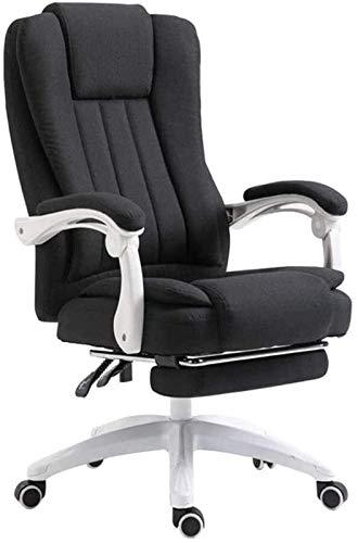 PULLEY Silla de oficina giratoria ejecutiva de tela para el hogar, silla de ordenador reclinable, silla perezosa de cuero Boss silla elevadora sillas de oficina