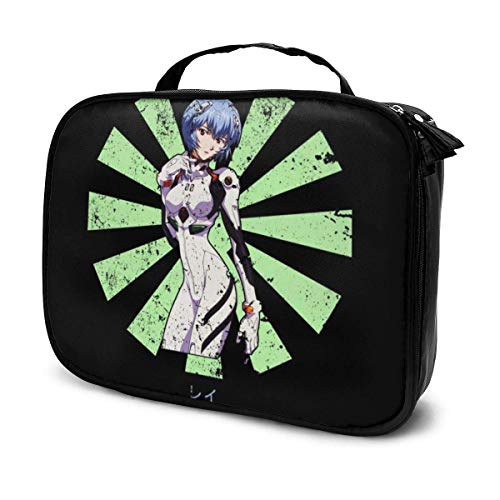 Makeup Bag Cosmetic Pouch Rei Neon Genesis Evangelion Retro Japanese Multi-Functional Bag Travel Kit