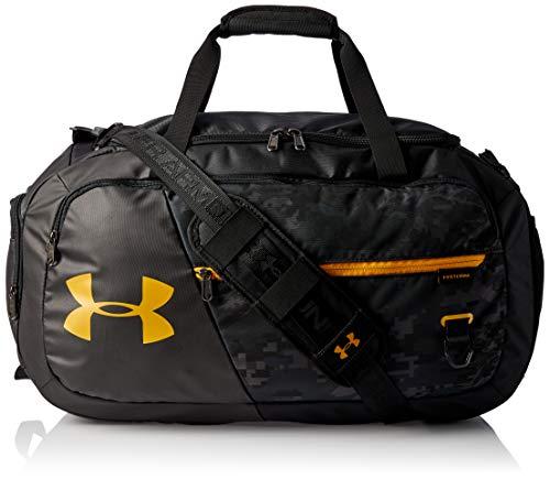 Under Armour Undeniable Duffle 4.0 bolsa de deportes, bolsa de entrenamiento unisex, Negro (Black/Black/Golden Yellow(001)), M
