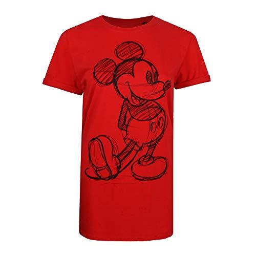 Disney Mickey Sketch Sudadera, Rojo (Red Red), 44 (Talla del Fabricante: X-Large) para Mujer