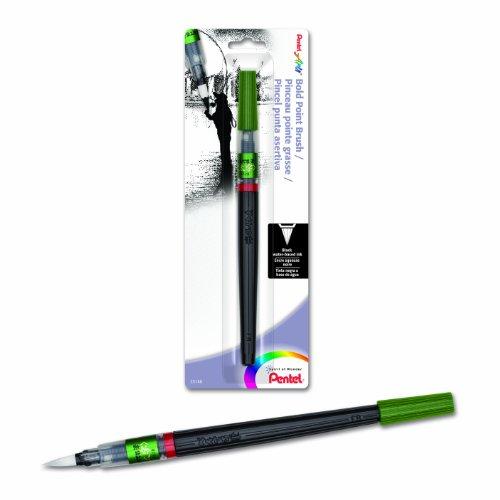 Pentel Arts Brush, Bold Point, Black Ink, Pack of 1 (FL2BBPA)