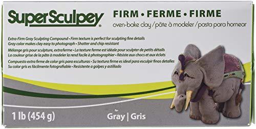 Sculpey- Arcilla polimérica, Color gris (Polyform SS1SCULPT)
