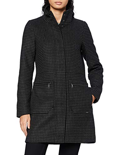 TOM TAILOR Denim Karo Wollmantel Abrigo de lana, 24555-Muñeco con diseño de...