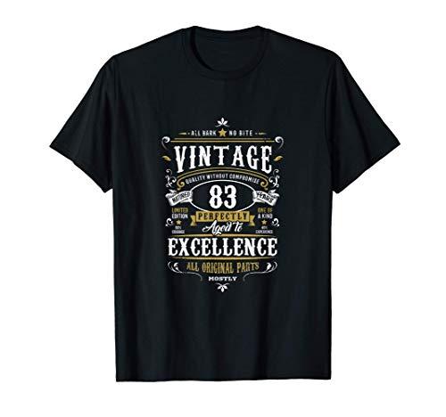 Regalo vintage di 83° compleanno per uomo nonno 83 anni 1937 Maglietta