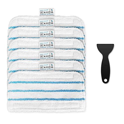 Topteam, cuscinetti di ricambio lavabili in microfibra per mosse a vapore Black & Decker, 6 confezioni