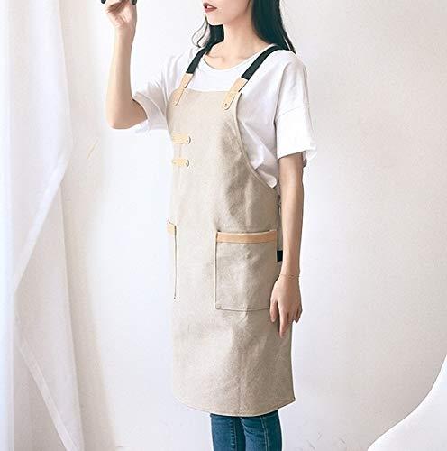 Outil de lavage pour la cuisine Tablier en toile lavée Tablier de coiffeur for barbecues Chef Cafe Shop (Kaki), Taille: 80x25cm (Couleur : Khaki)