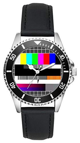 TV Testbild Geschenk Artikel Idee Fan Uhr L-2728