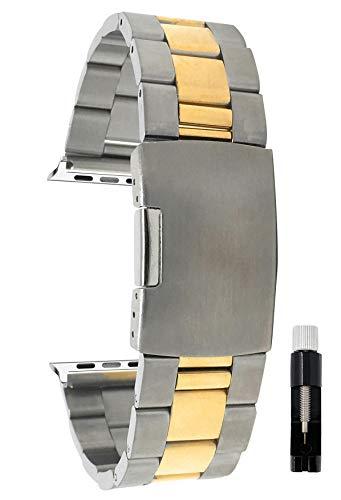 Bandini Correa de repuesto de metal de acero inoxidable para Apple Watch, compatible con Apple Watch Series 5, 4, 3, 2, 1 y correa iWatch – muchos colores – 38 mm, 40 mm, 42 mm, 44 mm