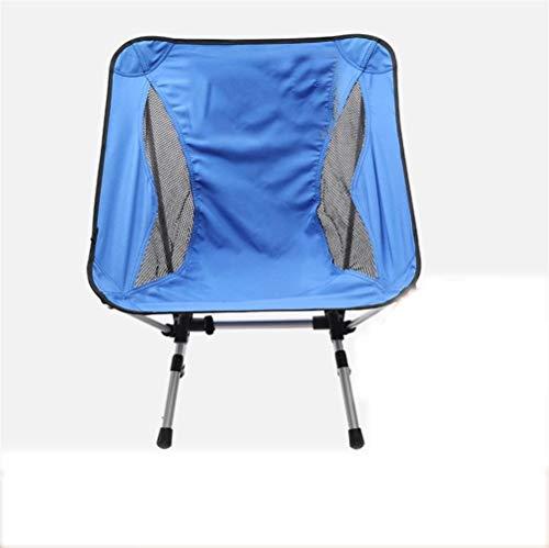 Extérieur Chaise de camping avec Thicker Support Tube en acier compact portable Chaise pliante avec poches côté léger et durable peut-il être utilisé for Camping Sac à dos Randonnée (Color : B)