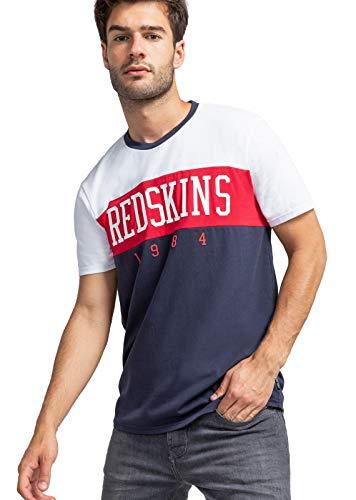 Redskins Doves Calder Camiseta, Navy/Rojo y Blanco, XL para Hombre