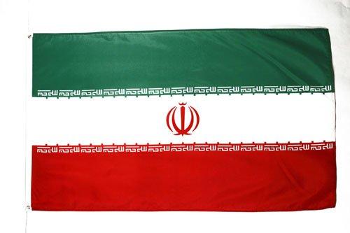AZ FLAG Flagge Iran 90x60cm - IRANISCHE Fahne 60 x 90 cm - flaggen Top Qualität