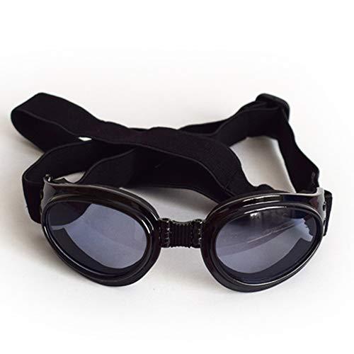 Galapara Gafas de Sol para Perros, Gafas para Perros Gafas para Mascotas Protección UV Gafas de Sol Correa Ajustable para Perros pequeños Protector de Ojos