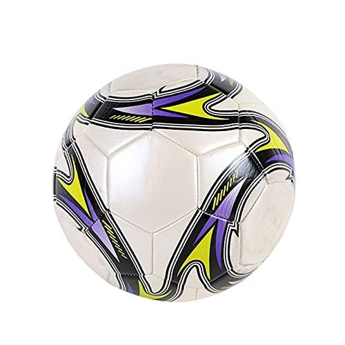 SASAU Taglia 5 Pallina da Calcio in Pelle Formazione Pallone da Calcio Concorrenza Palle da Competizione all'aperto Adult Student Foot Game Futebol Voetbal (Color : White)