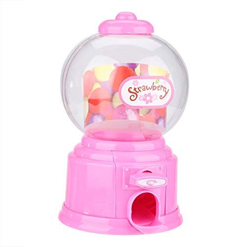 Fdit Portable Children Candy Machine Plastic Mini Gumballs Dispenser Kids Kindergarten GiftPink