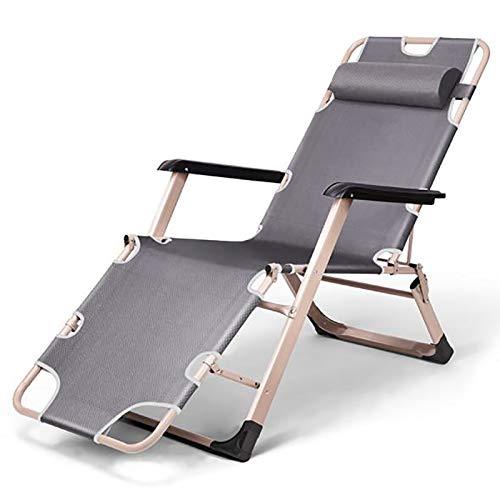 Bias&Belief Sun Lounger Reclining Garden Chair Garden Beach Backyard Patio Poolside Chair Max Load 330 Pounds,Gray