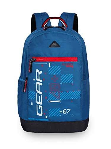 Gear Basic 2 20 Ltrs Moroccan.Blue-RedCasual Backpack (BKPBASIC20509)