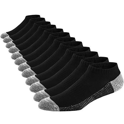 Ueither Calzini Corti per Uomo, Low Cut Calzini Sneakers in Cotone, Cushioned Calze Comodo per Sport, Scarpe da Ginnastica