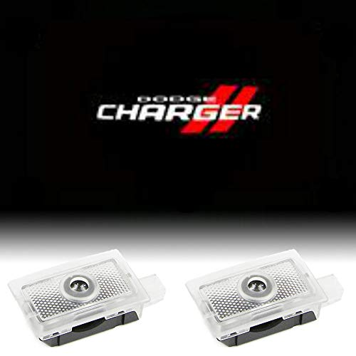 CHANONE Car Door LED Logo for Dodge Projector Ghost Shadow Charger Magnum, Entry Welcome Lamp Logo Light, LED Courtesy Step Lights Ground Lamp Kit Replacement (2 Pack)