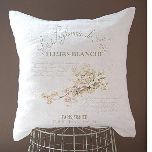 565pir Leinen Kissenbezug Shabby Chic Dekor Französisch Landhaus Dekor Landhaus Deko Landhaus Deko Rustikal Landhaus Vintage