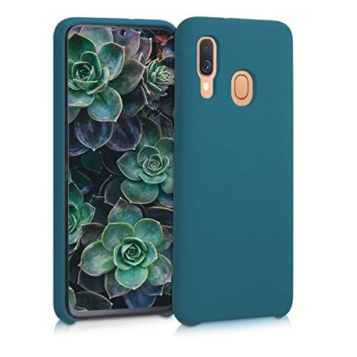 kwmobile Coque Compatible avec Samsung Galaxy A40 - Coque Étui Silicone - Housse de téléphone pétrole Mat