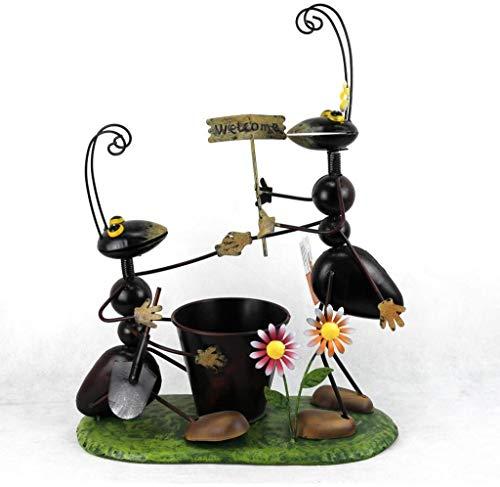 Decohouse - MACETERO Original Hormigas - Soporte Flores Plantas Divertido - 43x23 cm - Regalo Original y Barato