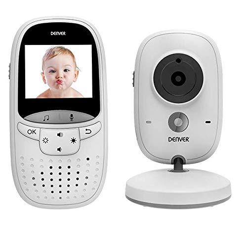 Denver BC-245 Baby Überwachungskamera Kabellose Video- und Tonübertragung auf 2 Zoll Monitor Infrarot-Sicht. Hochempfindliches Mikrofon. Einfach zu bedienen und Lange Reichweite.