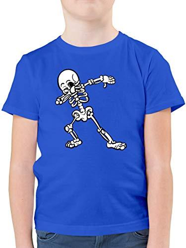 Halloween Kind - Dabbing Skelett - 140 (9/11 Jahre) - Royalblau - Shirt Dabbing Kinder - F130K - Kinder Tshirts und T-Shirt für Jungen