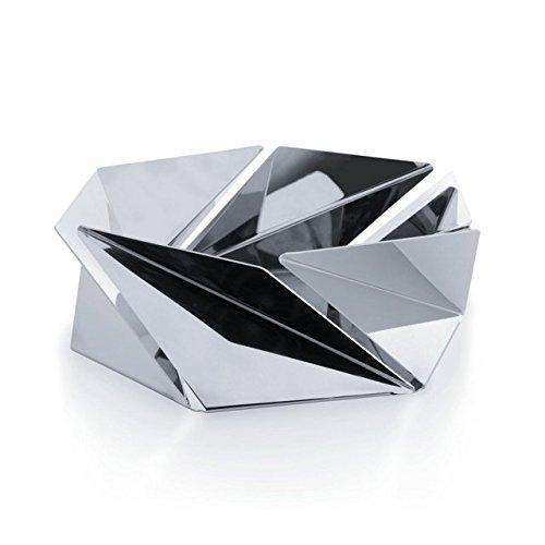 Alessi fruit bowl Kaleidos by Alessi. Designer Naoko Shintani. Modern Fruit Holder. 8/10 Stainless Steel Mirror Polished. Unique Designer Home Decoration. Great Housewarming Gift.